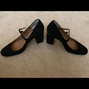 Calvin Klein Strappy Suede Black Block Heels